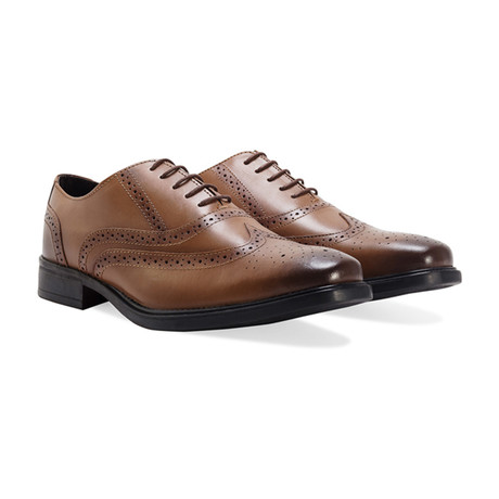 Neville Burnished Wingtip Oxford // Tan (UK: 8)