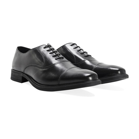 Oliver Plain Toe Cap Oxford // Black (UK: 8)