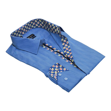 Lindos Button-Up Dress Shirt // Royal