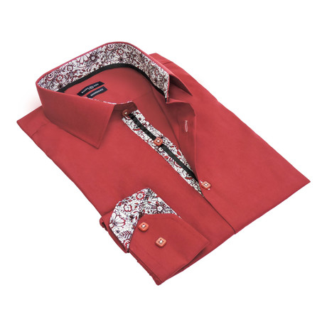 Quavo Dress Shirt // Burgundy
