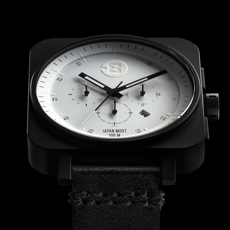 Minus-8 Square Chrono Quartz // P024-007-LBBW