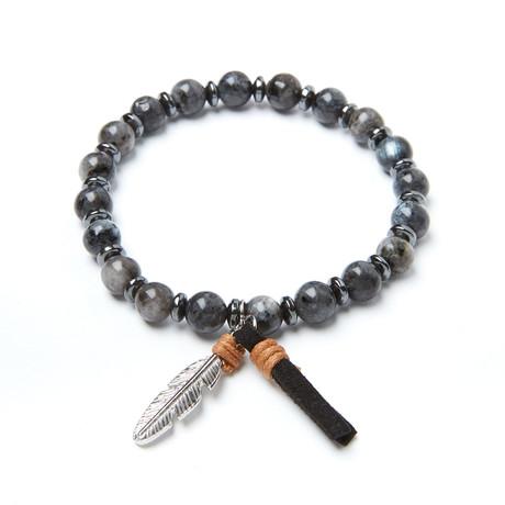 Feather + Agate Bracelet