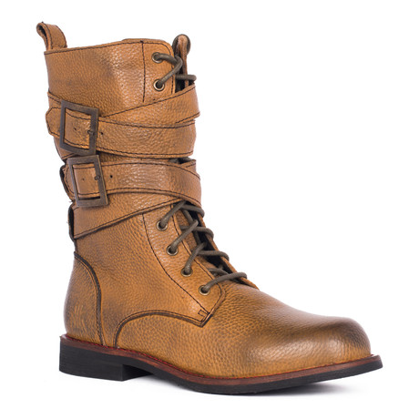 Jimi Lace-Up Boot // Brown