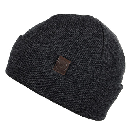 The Liston Fold-Up Beanie // Heather Charcoal