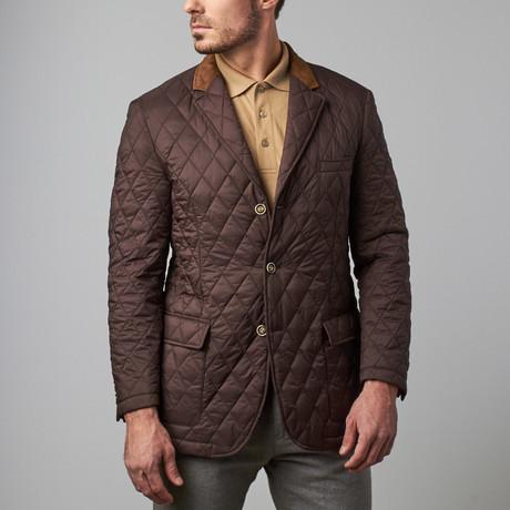 Bella Vita // Quilted Jacket // Brown (S)