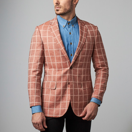 Bresciani // Paolo Lercara Sport Jacket // Red Squares