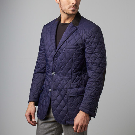 Quilted royal blue m 1 medium