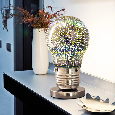 Global Table Lamp // Silver Base