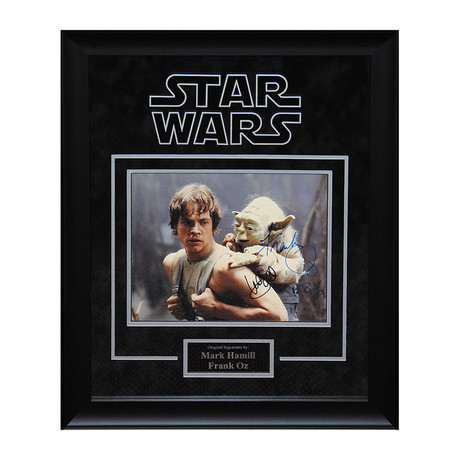 Yoda + Luke Skywalker Signed Photo