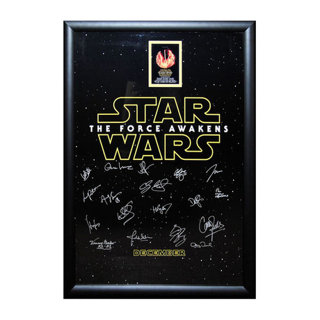Episode VII: The Force Awakens Signed Movie Poster 6