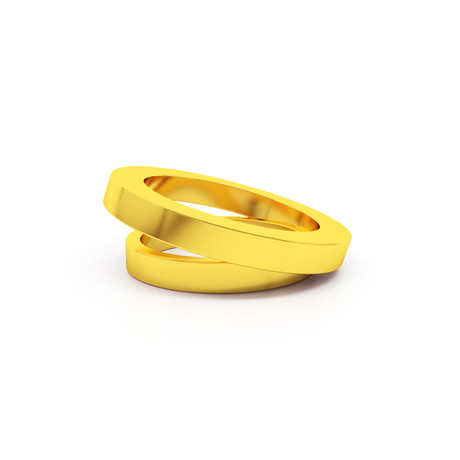 Double Ring // 22K Gold Plated (Size 5)