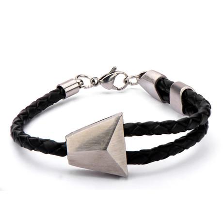 Braided Bolo Bracelet // Black