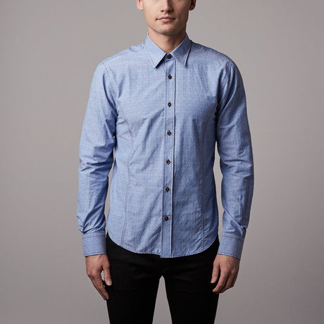 Eight-X // Slim Fit Button-Up Shirt // Blue (S)