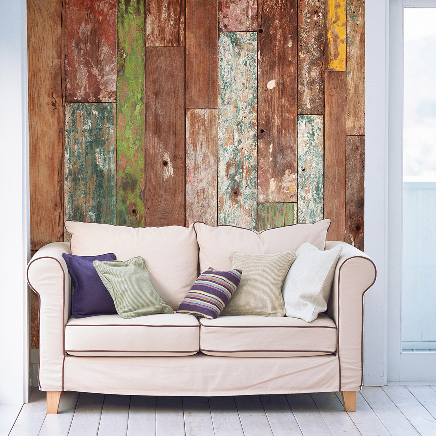 Weathered wood wall mural brewster home fashions touch for Brewster wall mural