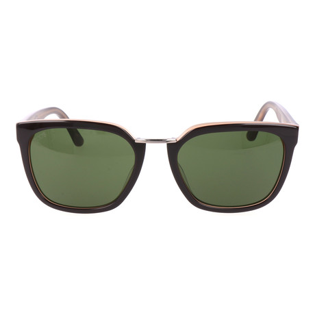 Metal Bridge Wayfarer // Brown + Beige