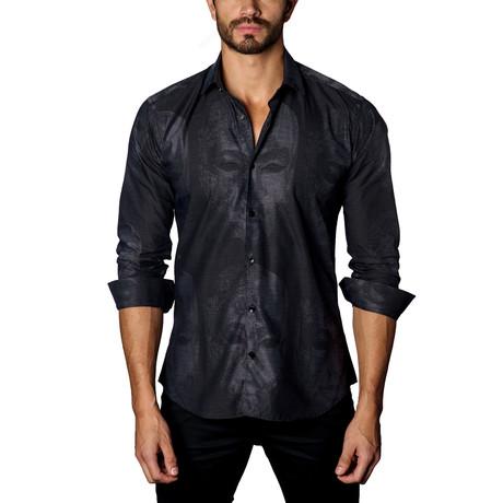 Button-Up Shirt // Black Jacquard