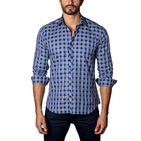 Button-Up Shirt // Navy + White Check