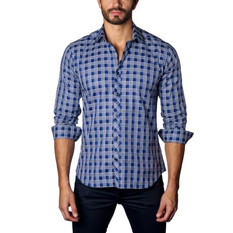 Button-Up Shirt // Navy + White Check