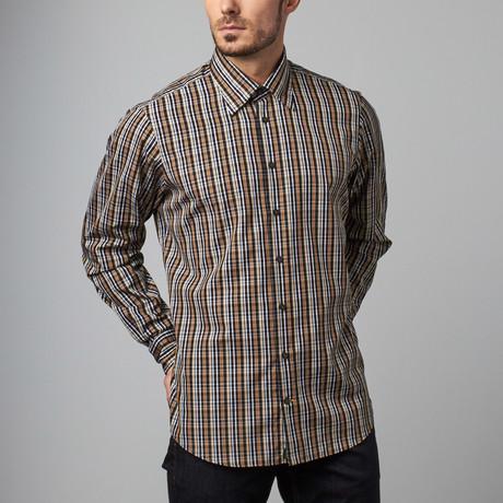 Stenger sport shirt brown s robert talbott touch for Robert talbott shirts sale