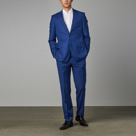 Classic Half-Canvas Suit // French Blue Steel Plate