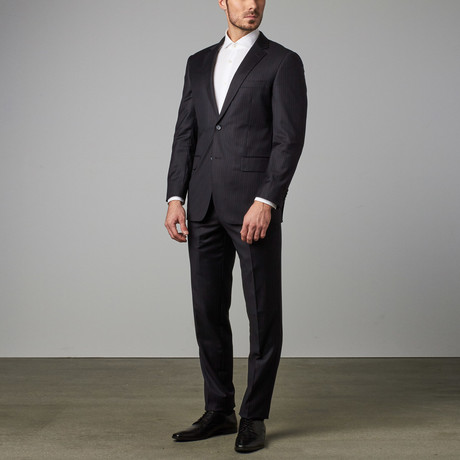 Paolo Lercara // Modern-Fit Suit // Navy Pinstripe (US: 36S)