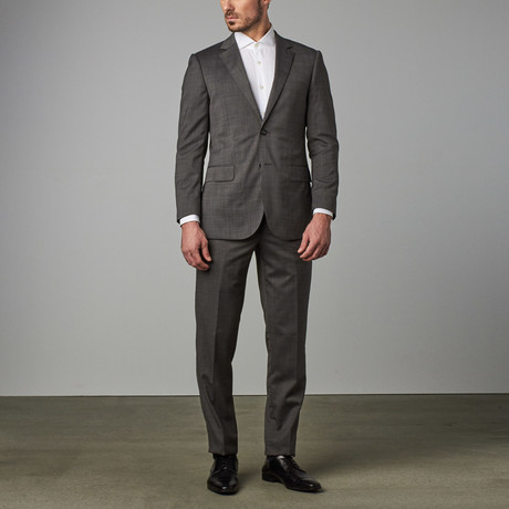 Paolo Lercara // Modern-Fit Suit // Charcoal Pindot (US: 36S)