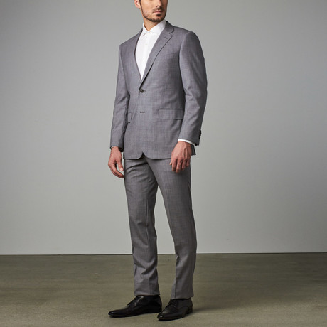 Modern-Fit Suit // Lite Grey Textured