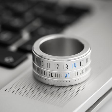 Ring Clock // Metal Ring + Blue LED