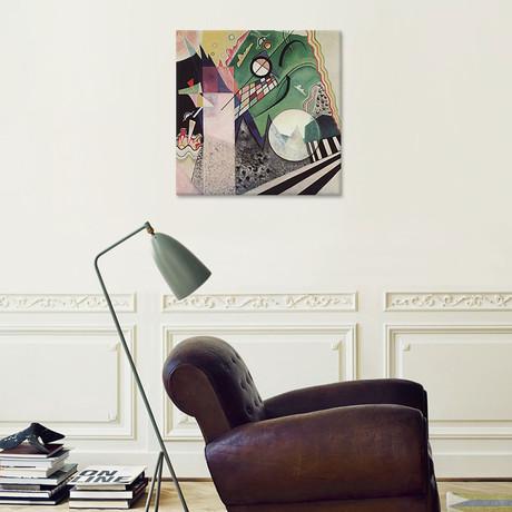 """Green Composition // Wassily Kandinsky // 1923 (18""""W x 18""""H x 0.75""""D)"""