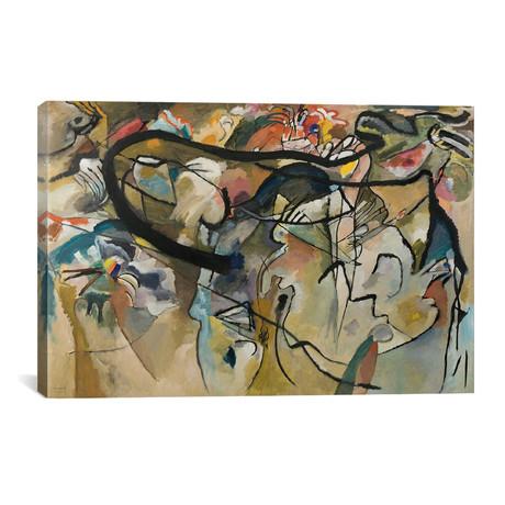"Composition V // Wassily Kandinsky // 1911 (26""W x 18""H x 0.75""D)"
