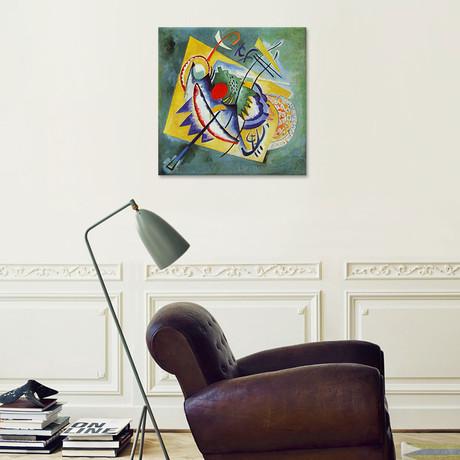 "Red Oval // Wassily Kandinsky // 1920 (18""W x 18""H x 0.75""D)"