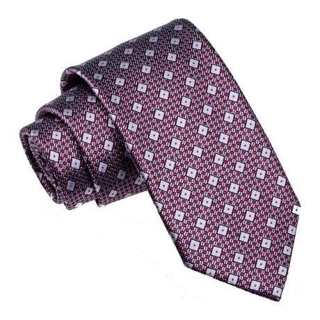 Diamond Tie // Burgundy + Grey