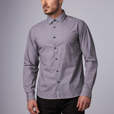 Platinum Microcheck Shirt // Gray (S)