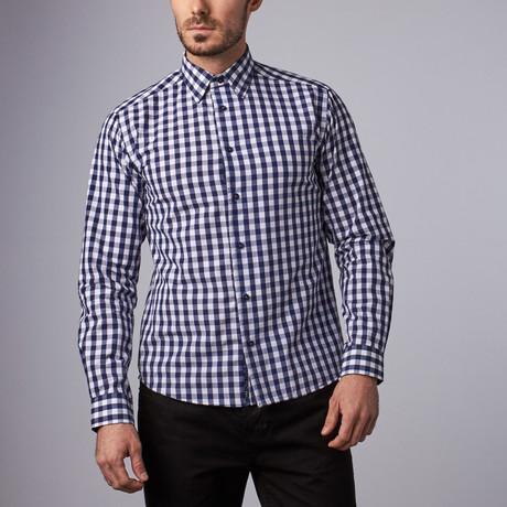 Stratford Gingham Shirt // Navy