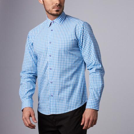 Bethany Gingham Shirt // Light Blue (S)