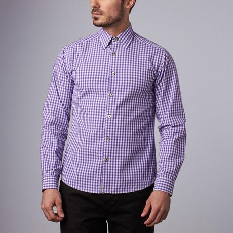 Greenwich Gingham Shirt // Purple (S)