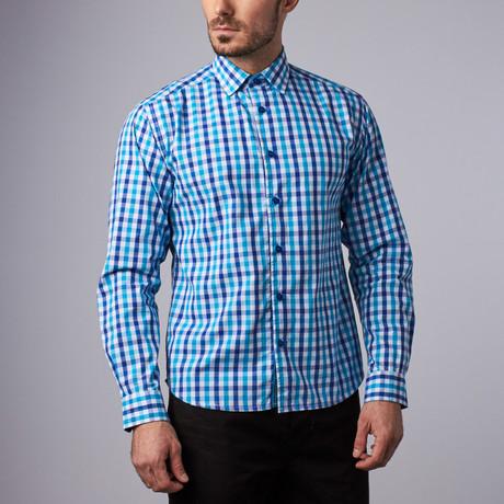Captain Gingham Shirt // Teal (S)