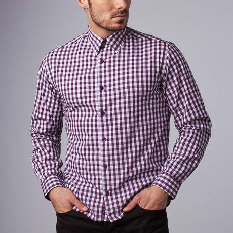 Vineyard Gingham Shirt // Aubergine (S)