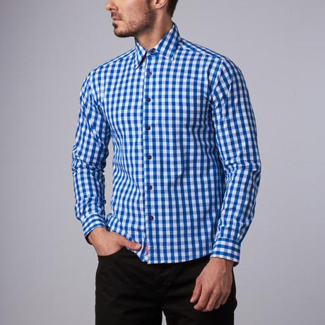 Franklin Gingham Shirt // Royal Blue (S)