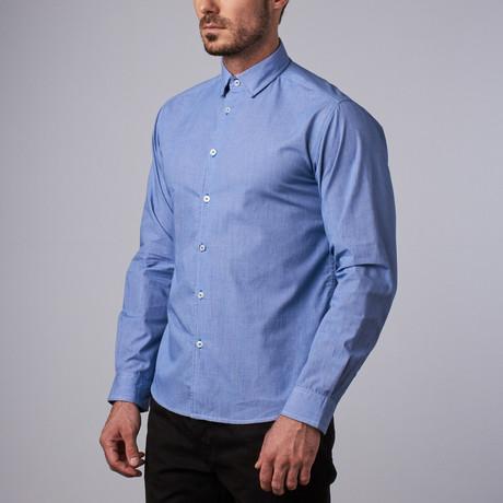 Madison Microcheck Shirt // Blue (S)