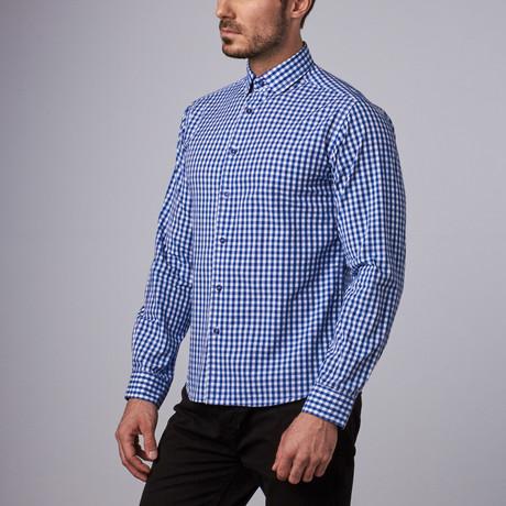 Havana Gingham Shirt // Royal Blue (S)