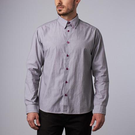 Milford Pinstripe Shirt // Gray (S)