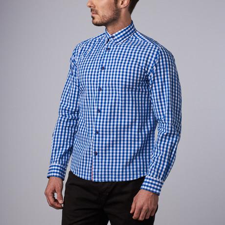 Waldo Gingham Shirt // Royal Blue (S)