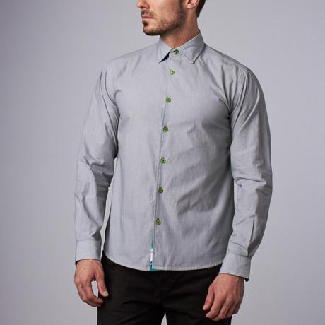 Boss Pinstripe Shirt // Gray (S)
