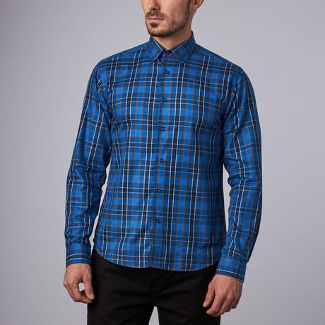 Gansevoort Plaid Shirt // Blue + Brown (S)
