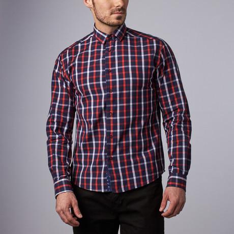 Vanderbilt Check Shirt // Navy + Red (S)