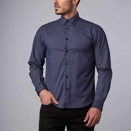 Monroe Polkadot Shirt // Navy (S)