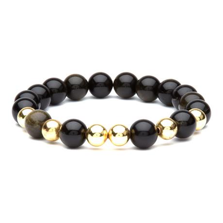 Caelus // Golden Obsidian Stone Bracelet