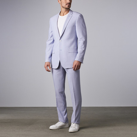Bella Vita // Slim-Fit Suit // Light Blue Seersuck...