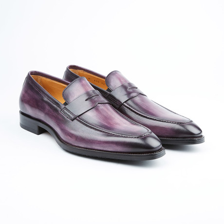 Amberes Penny Loafer // Eggplant